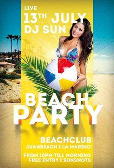 Beach Party Summer Flyer Template https://noobworx.com/store/beach-party-summer-flyer-template/?utm_campaign=coschedule&utm_source=pinterest&utm_medium=NoobWorx&utm_content=Beach%20Party%20Summer%20Flyer%20Template #free #flyer #template
