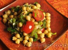 Salad season is almost upon us. This chickpea dish can be served warm or cold, depending on how co-operative the weather is being :) This t. Chickpea Salad, Black Eyed Peas, Cold, Warm, Dishes, Tablewares, Dish, Signs, Dinnerware