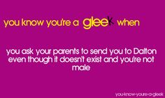You Know You're A Gleek When...I call dibs on HUNTER CLARINGTON!