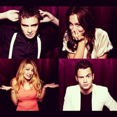 Ed Westwick, Leighton Meester, Blake Lively, and Penn Badgley.