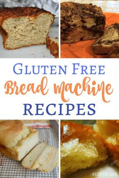 Gluten Free Bread Machine Recipes to Bake - The Best of Life Gluten free bread machine ideas can help let you enjoy the fresh scents and tastes of many different types of bread without worrying about the side effects. Gf Bread Machine Recipe, Gluten Free Bread Maker, Gluten Free Bread Recipe Easy, Bread Maker Recipes, Easy Gluten Free Desserts, Gluten Free Banana Bread, Best Gluten Free Recipes, Easy Bread Recipes, Gluten Free Baking