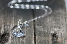 Half Moon Crystal Necklace, Moon Necklace from DevikaBox by DaWanda.com