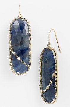 Lana Jewelry 'Stone Gold' Sapphire Drop Earrings available at #Nordstrom