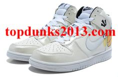 Angry Birds Nike Dunk White High Tops Internet Sales