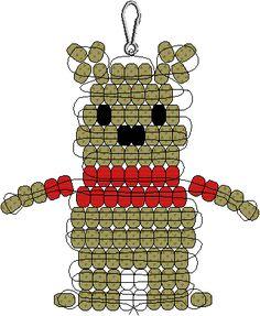 I need this!  Pooh Bear Pony Bead Pattern