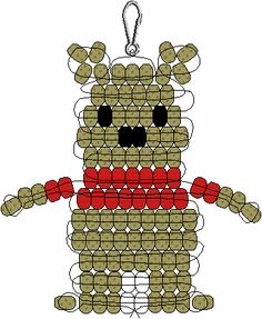 Pooh Bear Pony Bead Pattern add a smile