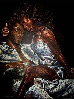 Black Art On Pinterest Black Art Natural Hair Art