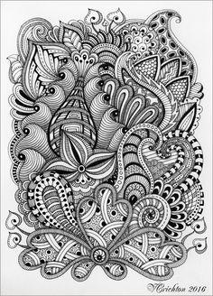 Zentangle art for beginners tumblr - imgUR