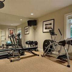 Home Gym Design Pictures Remodel Decor and Ideas - page 11. Workout RoomsExercise ... & Basement Exercise Rooms Design Pictures Remodel Decor and Ideas ...