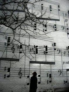 "mural outside Schmitt Musical Company, Maurice Ravel's ""Gaspard de la Nuit"