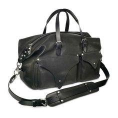 black leather bag mens fashion