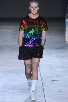Ashish Fall 2014 Ready-to-Wear Collection Slideshow on Style.com.  -  I don't particularly love the look of this shirt, but I adore the message that love will win over hatred and bigotry, and I love that Ashish used a model with lots of tattoos!