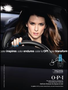OPI Cosmetic Advertising with Danica Patrick