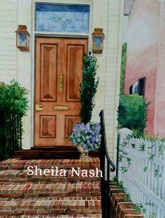 Charleston Door. Watercolor