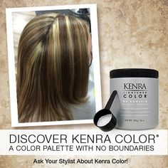 Image by Gabriela Mangual-Collier using Kenra Color No Ammonia Lightener.