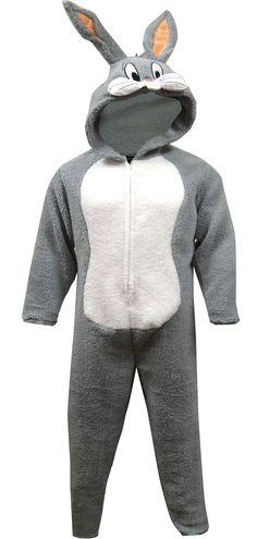 f0aa48c2c5 Looney Tunes Bugs Bunny One Piece Union Suit Pajama