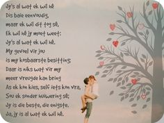 Afrikaanse Inspirerende Gedagtes & Wyshede: Jy's al wat ek wil he Happy Wedding Anniversary Quotes, Afrikaanse Quotes, Eternal Love, True Colors, Qoutes, Love Quotes, Prayers, Self, Bring It On