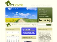 The ecoshuttle website is a great transportation website layout for any company looking for an informational site. Very bright, welcoming, and nice images with modern call-to-action graphics.