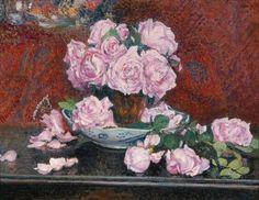 Artwork by Georges Lemmen, ROSES ROSES (CA. 1908), Made of Oil on cardboard