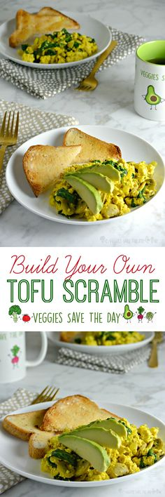 Build Your Own Tofu Scramble! Choose your favorite ingredients to make a breakfast or brunch all your own.