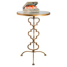 Chicka Side Table in Gold.