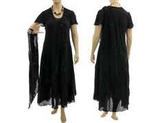 31a8009d70 Artistic boho hand dyed maxi dress with scarf