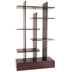Awesome Espresso Finished Wood Shelving Unit Idea with Cool Shelving Design in Rectangular Base Perfect for Display Shelf Cube Bookcase, Cube Shelves, Wall Bookshelves, Wall Mounted Shelves, Display Shelves, Bookcases, Bookshelf Ideas, Glass Shelves, Storage Shelves