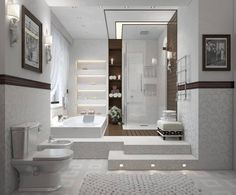 Awesome Bathroom Design Decorated By Modern Interior Concepts In