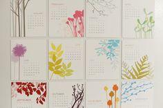 DIY magnetic calendar