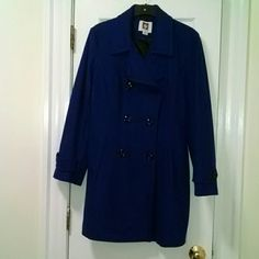 Ann Klein Wool Pea Coat Gorgeous royal blue pea coat from Ann Klein. Unfortunately it's too big for me. I wore it once, it looks like new. Anne Klein Jackets & Coats Pea Coats