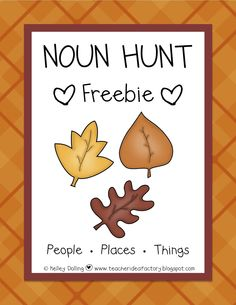 Noun Hunt Freebie - A little offended by the word cop used instead of officer or something like that, but it was free.  I just won't use that word card.