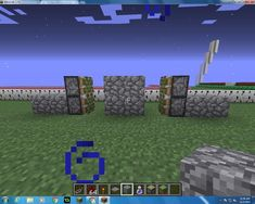 Then put your next 2 Cobblestone on the outside of you Sticky Pistons.