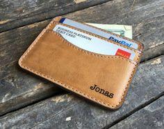Credit Card Holder  Slim Leather Wallet  Credit Card Sleeve
