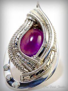 Amethyst and Opal Wire Wrap www.twobirdsjewelers.com