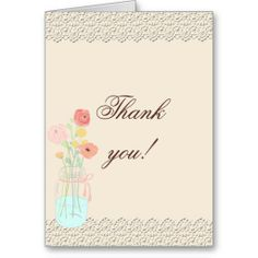Rustic Posh in Coral Photo Thank You Card