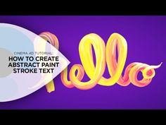 Cinema 4D Tutorial - Create a Graffiti Logo in Cinema 4D - YouTube