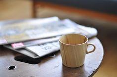 .... and a wood cup - Kami - seen at Asahikawa Wood Works Expo in Paris