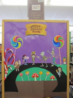 Charlie and the Chocolate Factory Library Endstack Decoration