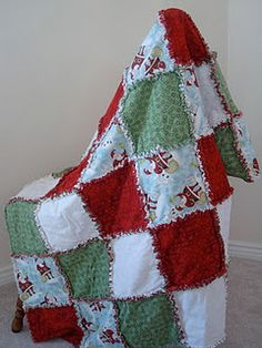 Christmas Rag Quilts. maybe next year? haha. I LOVE these.
