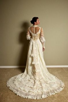 Group Of Victorian Style Wedding Dresses