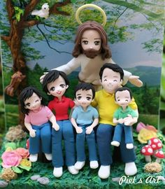 Polymer clay, masa flexible, cold porcelain, fimo, cernit, porcelana fria, biscuit Jesus with us