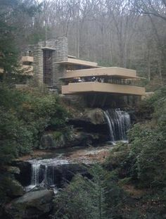 Fallingwater by Frank Lloyd Wright-- the concrete cantilever has had to be reinforced.