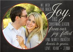 Christmas Engagement Card