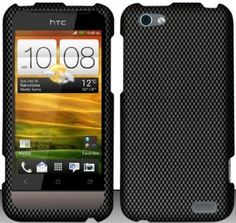 Buy HTC One V Case Classy Carbon Fiber Design Hard Cover Protector with Free Car Charger + Gift Box By Tech Accessories NEW for 3.99 USD   Reusell