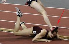 CVCLAVOZ-Heather Dorniden, estaba liderando la carrera 600 metros con una sola vuelta para el final, cuando de repente, se tropezó y cayó al último luga