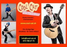 CoolCat, der vielseitige Alleinunterhalter, ist eine einzigartige Attraktion für Ihren Anlass! Mit den beliebtesten Partysongs und Kulthits begeistert er an Hochzeit, Geburtstag, Firmenevent, Vereinsanlass etc www.alleinunterhalter-coolcat.ch