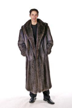 Mens Raccoon Fur Coat – Natural Raccoon | Madison Avenue Mall | Madison Avenue Mall