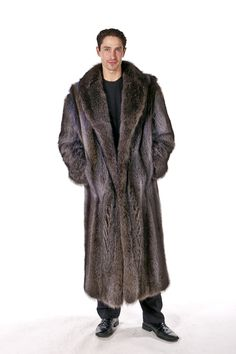 Mens Raccoon Fur Coat – Natural Raccoon | Madison Avenue Mall | Madison Avenue Mall