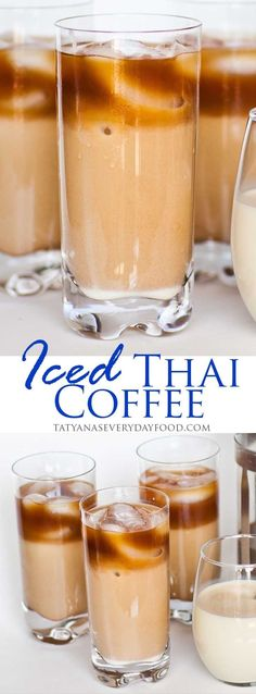 Iced Vanilla Thai Coffee - Tatyanas Everyday Food #makecoffee
