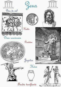 La Grèce, avec trois dieux, des frères, Zeus, Poséidon et Hadès...